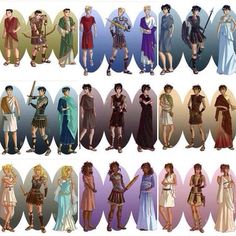 The seven: Frank Zhang, Jason Grace, Thalia Grace, Percy Jackson, Nico Di Angelo, Leo Valdez, Annabeth Chase, Hazel Levesque, and Piper McLean