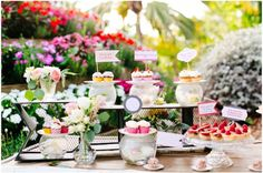 Maui Hawaii Dessert Bar Ideas Photography by U Me Us Studios Styling by Belle Destinations Desserts by Baked by Amy maui vegan dessert wedding event catering 2015 Wedding Trends mini cupcakes / mini dessert ideas