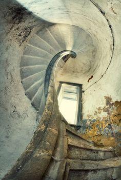 beautiful abandoned stairway, beautiful photography