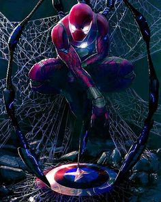 Spiderman with iron suit,looks very cool #marvel #cosplayclass #sipderman