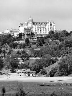 Hotel Real desde la playa de la Magadalena #Santander #Cantabria #Spain #Travel