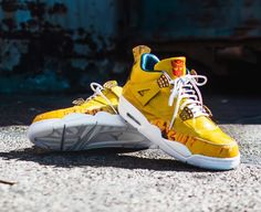 The Shoe Surgeon designed an exclusive Air Jordan 4 Transformers Custom for  Mark Wahlberg to coincide with the release of the Transformers  The Last  Knight. 6037e1011