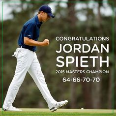 Congratulations Jordan Spieth Your 2015 #Masters Champion!