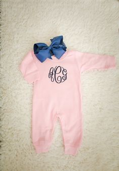 Baby girl coming home outfit monogrammed romper and by skkilby21