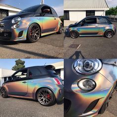 Fiat 500 abarth psichedelic wrap  1 of 1 , we use this matereal for the first time on this car ... so judge the result   #psichedelic #wrap #3m #customized #wrap #roma