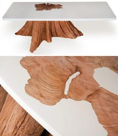 Upcycled resin log tables - Mth Woodworking