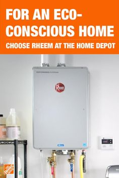 Take energy conservation to a new level with The Home Depot. Save on your energy bills by replacing your old water heater with an eco-friendly Rheem Electric water heater. Tap to shop Rheem Water Heaters at The Home Depot. Home Improvement Projects, Home Projects, Home Renovation, Home Remodeling, Home Repairs, My Dream Home, Plumbing, Building A House, House Plans