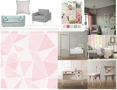 maya pink grey girls room
