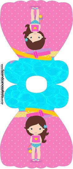 Convite Vestido Pool Party Menina