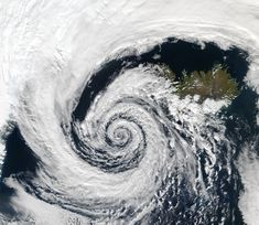 Another Logarithmic spiral in nature: a low pressure area on the top of iceland