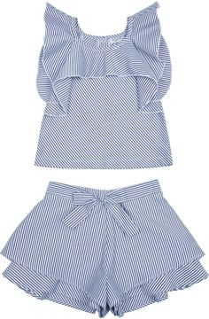 Habitual Girl Habitual Girl Baby Girl's Lila Two-Piece Flounce Top& Shorts Set Baby Girl Fashion, Kids Fashion, Toddler Outfits, Kids Outfits, Baby Dress Design, Baby Frocks Designs, Baby Dress Patterns, Dresses Kids Girl, Cute Baby Clothes