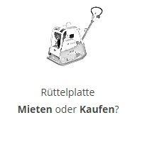 Rüttelplatte mieten - Rüttelplatte kaufen