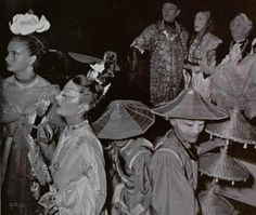 The 'chinese emperor's troupe' at the Beistegui Ball at Palazzo Labia in Venice, September 1951