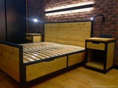 Cama Industrial, Bed Frame With Drawers, Living Room Tv Unit, Bedroom Furniture Design, Loft, Welding, Home Decor, Rocking Chairs, Furniture Ideas