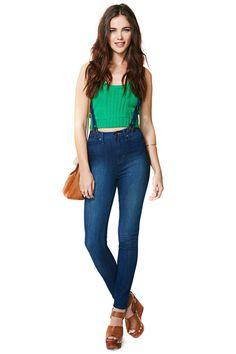 Santana Suspender Skinny Jeans