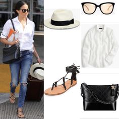 Meghan Markle wearing J.Crew Chanel and Madewell in Austin #meghanmarkle Shopping info at www.starstyle.com