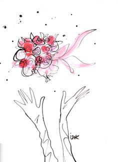 It's mine! #IzakZenou #wedding #bridal #bride #flowers #marriage #fashion #illustration #fashionillustration #TrafficNYC
