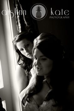 black and white wedding  getting ready picture  pensacola weddings