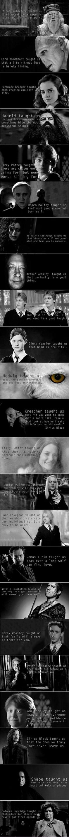 James potter told us that a bully can become a great man and lily is spelled wrong