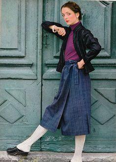 DIY vintage, couture, tricot, loisirs créatifs, années 70: veste
