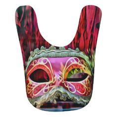 Masquerade Masks Baby Bib