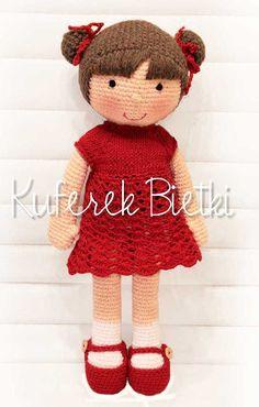 Kuferek Bietki: Ruby - lalka na szydełku / Ruby, Gehäkelte Puppe (...