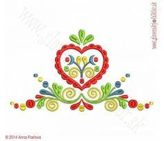 Výšivka Záhorie, 24 x 13 cm Flower Embroidery Designs, Flower Designs, Embroidery Ideas, Scandinavian Folk Art, Textiles, Close To My Heart, Quilling, Sewing Projects, Doodles
