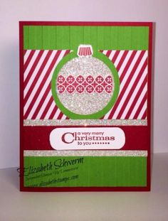 Bling on my Tree! #Ornament Keepsakes #stampin' Up!  http://www.elizabethstamps.com/5/post/2013/12/bling-for-my-tree.html