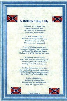 It is not a flag of hate! God Bless it and God bless America and all the mindless idiots who think it's a horrible symbol!