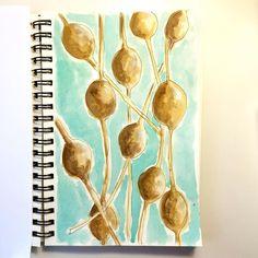 Seed pods - #seedpods #ifdrawaweek #ifdrawaweek19 #watercolor #sketchaday #seeds #illustration
