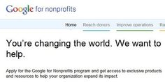 Google for nonprofit...