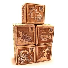 The Young Mad Scientist's First Alphabet Blocks