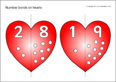 Number bonds to 10 on hearts (SB6709) - SparkleBox