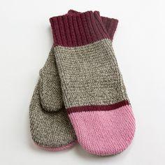Pink Sock Monkey Mittens / Nube Green $16.50 / made in Oshkosh, WI
