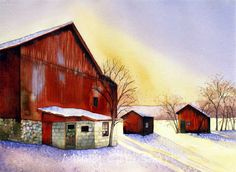 Architecture | Mary Gibbs Art - I love the color blending of the sky.
