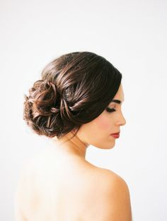 wedding hair updo - photo by Loft Photography http://ruffledblog.com/minimalist-and-moody-wedding-editorial