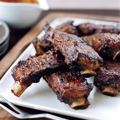 Texas-Style Barbecue - These fantastic Texas-style barbecue recipes include sticky, luscious ribs, juicy steaks, tender brisket and more.