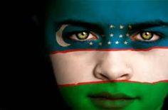 Uzbekistan Flag Painted Face
