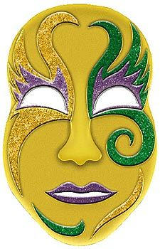 Hang this Jumbo 3D Mardi Gras Mask on your wall to celebrate Mardi Gras. The plastic Mardi Gras Mask is decorated with glitter.
