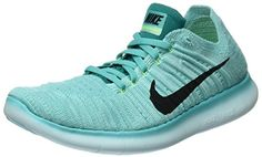 Womens Nike Free RN Flyknit HYPER TURQBLACKVOLTRIO TEAL 6 *** Want to know more, click on the image.(This is an Amazon affiliate link)