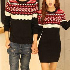 pareja ropa navidad