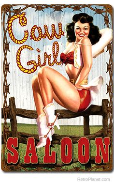 cartoon cowgirl pin up | pin it see more in pin ups risque and adult humor signs