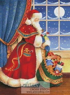 Christmas Delivery cross stitch pattern.