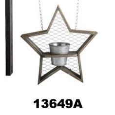 Star Flower Pot w. Chicken Wire Replacement