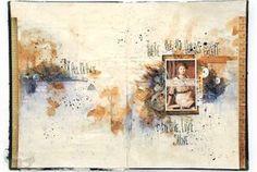 Art Recipe: Breathe, Live, Shine - art journal pages