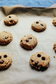 Almond Butter Chocolate Chip Cookies | Minimalist Baker Recipes