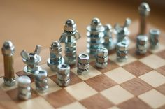 ~ DIY chess board and pieces