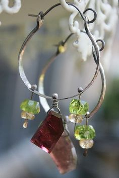 Tourmaline boho2 - love these. quirky / elegant - and the colors are perfect