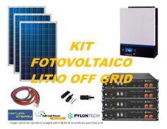 Kit Energía Solar Litio Off Grid 5kW Full Kit, Solar Power, Index Cards
