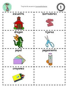This bilingual sequencing activity is designed to be used with the Bilingual Poem of the Week: La escuelita bonita, which is available as a free download.